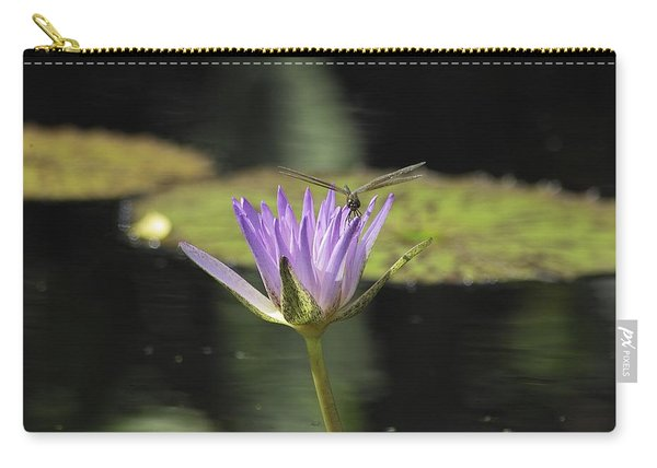 The Dragonfly And The Lily Carry-all Pouch