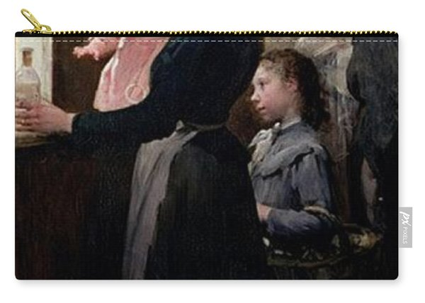 The Drop Of Milk In Belleville Doctor Variots Surgery The Distribution Of The Milk Henry Jules Jean Geoffroy Carry-all Pouch