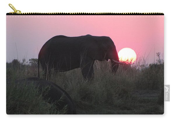 The Elephant And The Sun Carry-all Pouch