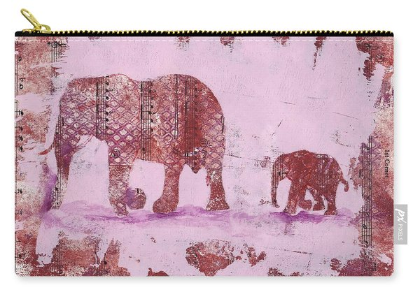 The Elephant March Carry-all Pouch