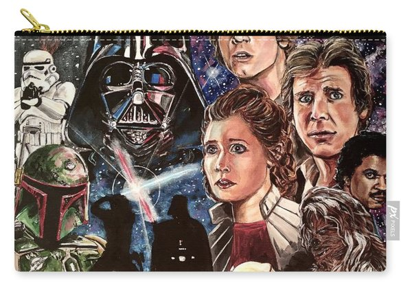 Carry-all Pouch featuring the painting The Empire Strikes Back by Joel Tesch