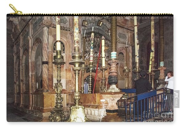 Carry-all Pouch featuring the photograph The Empty Tomb Of Christ by Mae Wertz