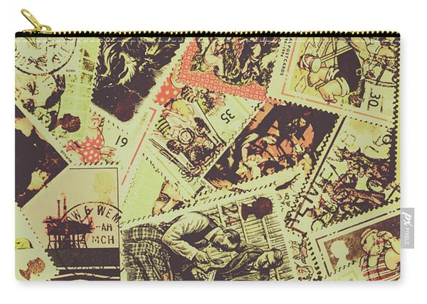 The English Postage Scene Carry-all Pouch