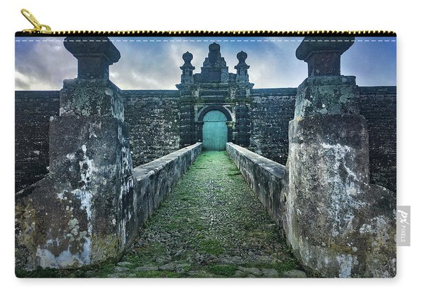 The Entrance To Fortress Of Sao Joao Baptista On Monte Brasil Carry-all Pouch