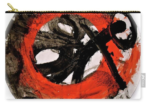 Carry-all Pouch featuring the painting The Escape Velocity Of Zen-or Metaphysics At A Glance by Cliff Spohn