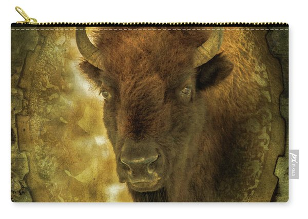 The Face Of Tatanka Carry-all Pouch