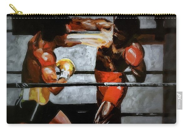 Carry-all Pouch featuring the painting The Favor by Joel Tesch