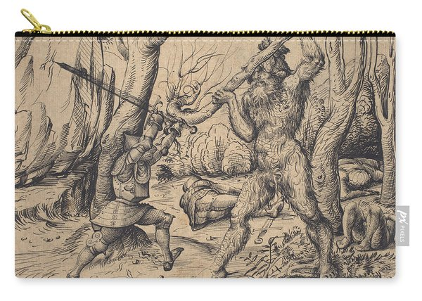 The Fight In The Forest Carry-all Pouch