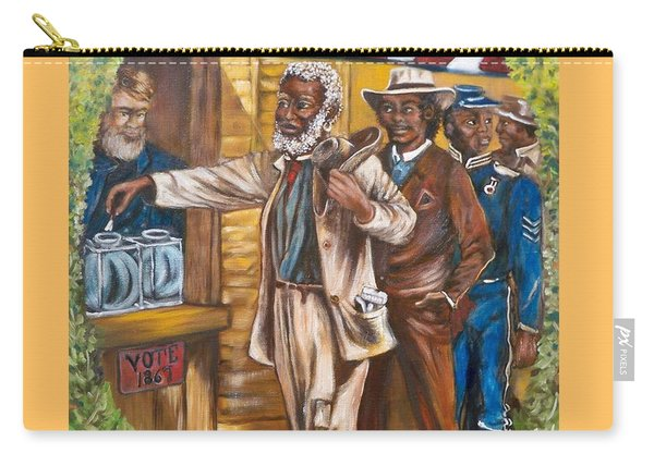 Historical  Artwork     First Vote - 1867 Carry-all Pouch