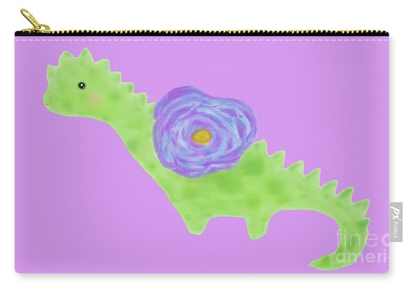 The Flower Dinosaur  Carry-all Pouch