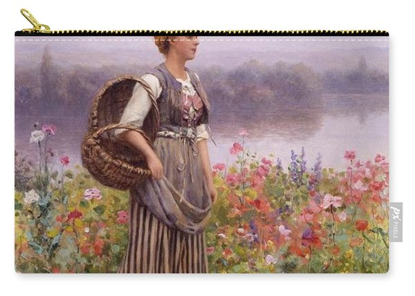 The Flower Girl Daniel Ridgway Knight Carry-all Pouch