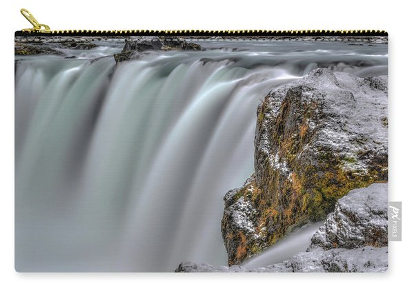 The Flowing Godafoss Falls Carry-all Pouch
