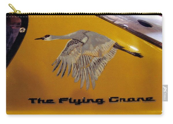 Carry-all Pouch featuring the painting The Flying Crane by Richard Le Page