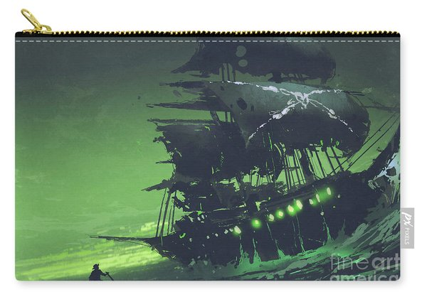 Carry-all Pouch featuring the painting The Flying Dutchman by Tithi Luadthong