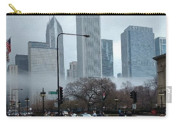 The Fog Lifts On Michigan Avenue Carry-all Pouch