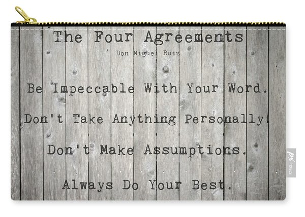 The Four Agreements 12 Carry-all Pouch