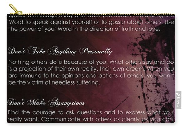 The Four Agreements 3 Carry-all Pouch