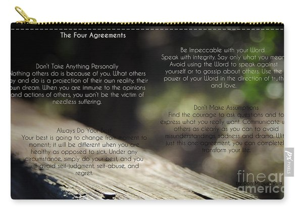 The Four Agreements 4 Carry-all Pouch