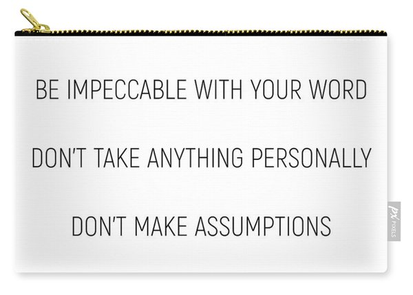 The Four Agreements #minismalism #shortversion Carry-all Pouch