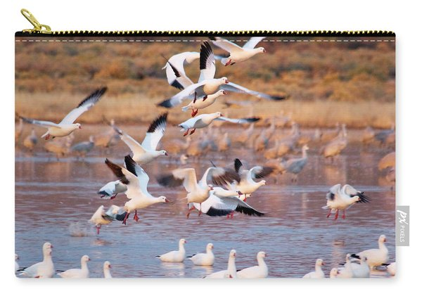 Carry-all Pouch featuring the pyrography the Gathering by Michael Lucarelli