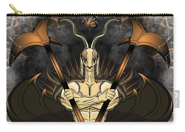 Carry-all Pouch featuring the painting The Goat Capricorn Spirit by Raphael Lopez