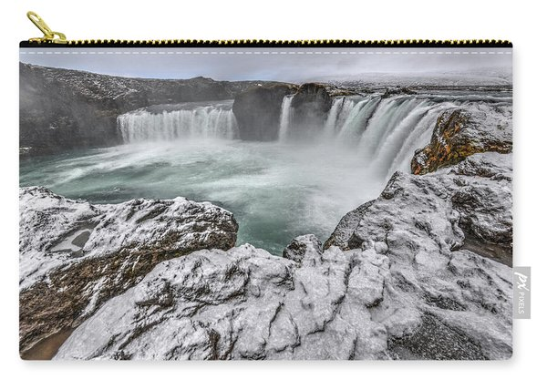 The Godafoss Falls In Winter Carry-all Pouch