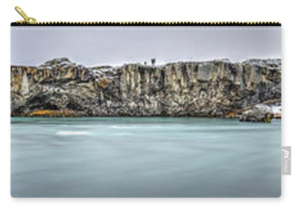 The Godafoss Falls Pano Carry-all Pouch