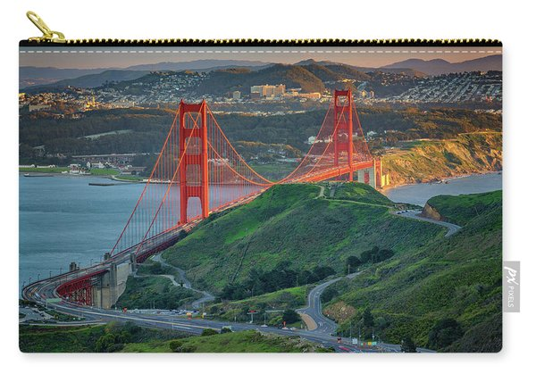 The Golden Gate At Sunset Carry-all Pouch