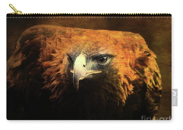 The Golden Hawk Locks On Target . R3593 Carry-all Pouch