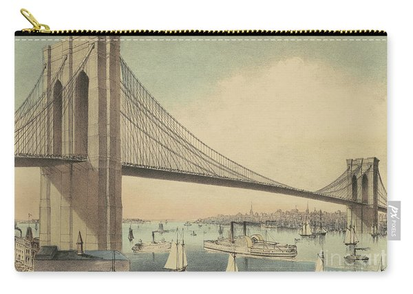 The Great East River Suspension Bridge Connecting Manhattan And Brooklyn Carry-all Pouch