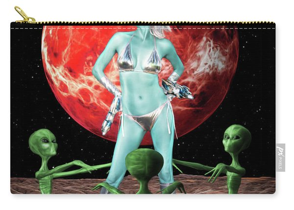The Green Queen Is Blue Carry-all Pouch