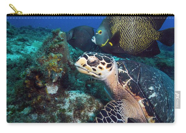 The Green Turtle And The Angelfish Carry-all Pouch