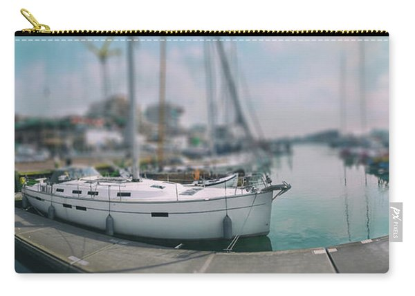 Carry-all Pouch featuring the photograph the Hague local harbor by Ariadna De Raadt