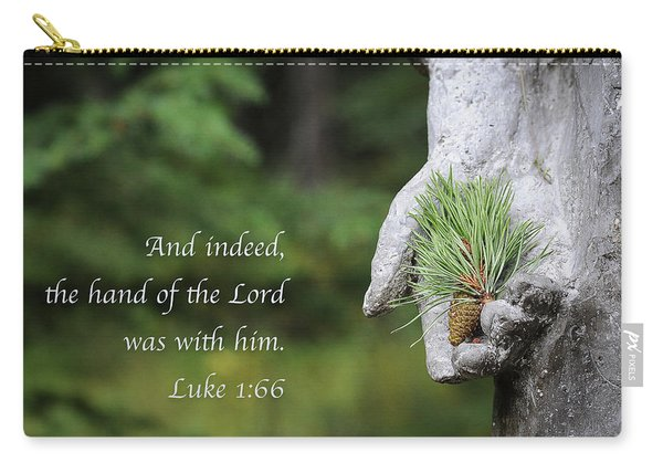 Carry-all Pouch featuring the photograph The Hand Of The Lord by Mary Lee Dereske