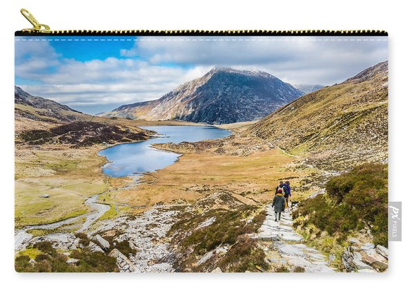 Carry-all Pouch featuring the photograph The Hike Back Down by Nick Bywater