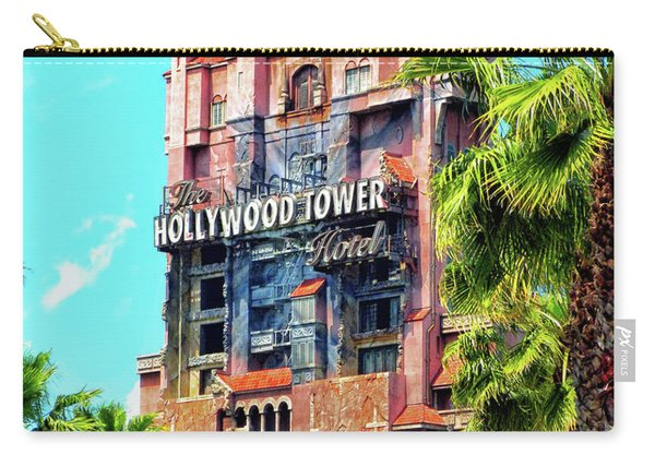 The Hollywood Tower Hotel Walt Disney World Pm Carry-all Pouch
