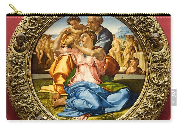 The Holy Family - Doni Tondo - Michelangelo Carry-all Pouch