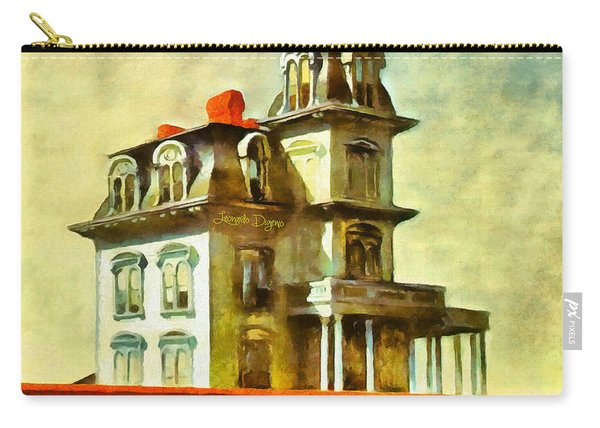 The House Of The Railroad By Hopper Revisited - Da Carry-all Pouch