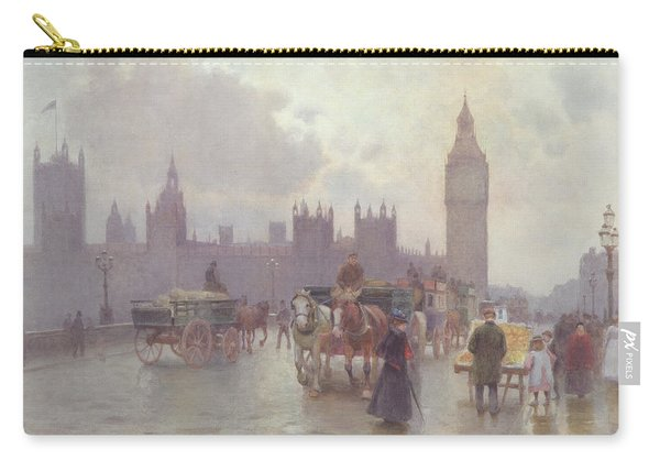 The Houses Of Parliament From Westminster Bridge Carry-all Pouch