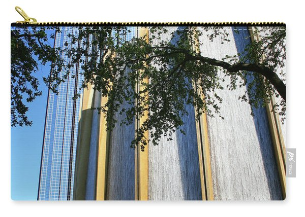 The Houston Water Wall And Williams Tower Carry-all Pouch