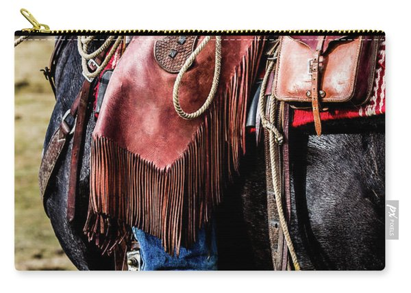 The Idaho Cowboy Western Art By Kaylyn Franks Carry-all Pouch