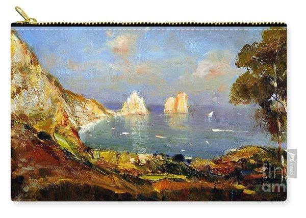 The Island Of Capri And The Faraglioni Carry-all Pouch