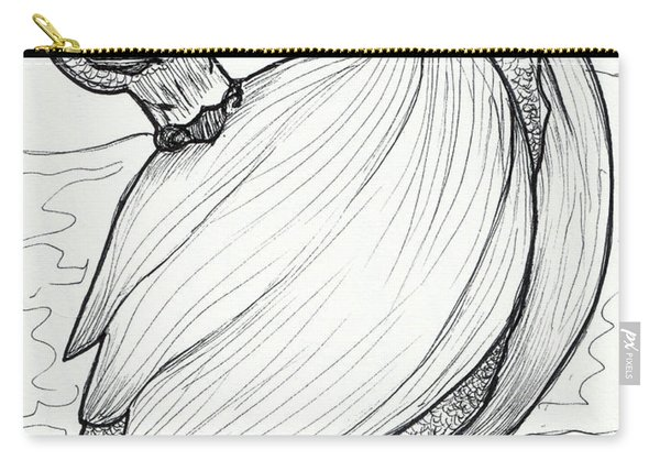 Carry-all Pouch featuring the drawing The Itch by Loretta Nash