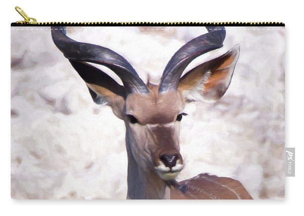 The Kudu Portrait 2 Carry-all Pouch