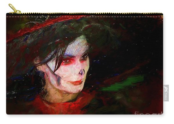 The Lady In Red Carry-all Pouch