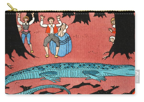The Large Blue Lizard Carry-all Pouch