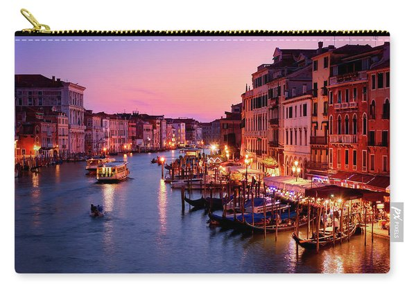 The Blue Hour From The Rialto Bridge In Venice, Italy Carry-all Pouch