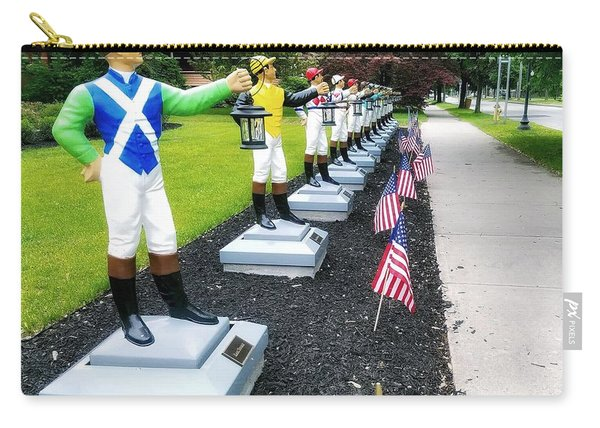The Lawn Jockeys Of Saratoga Springs Carry-all Pouch