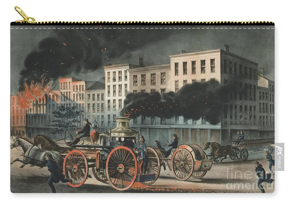 The Life Of A Fireman, The Metropolitan System, 1866 Carry-all Pouch