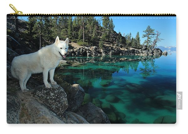 Carry-all Pouch featuring the photograph The Light Of Lake Tahoe by Sean Sarsfield